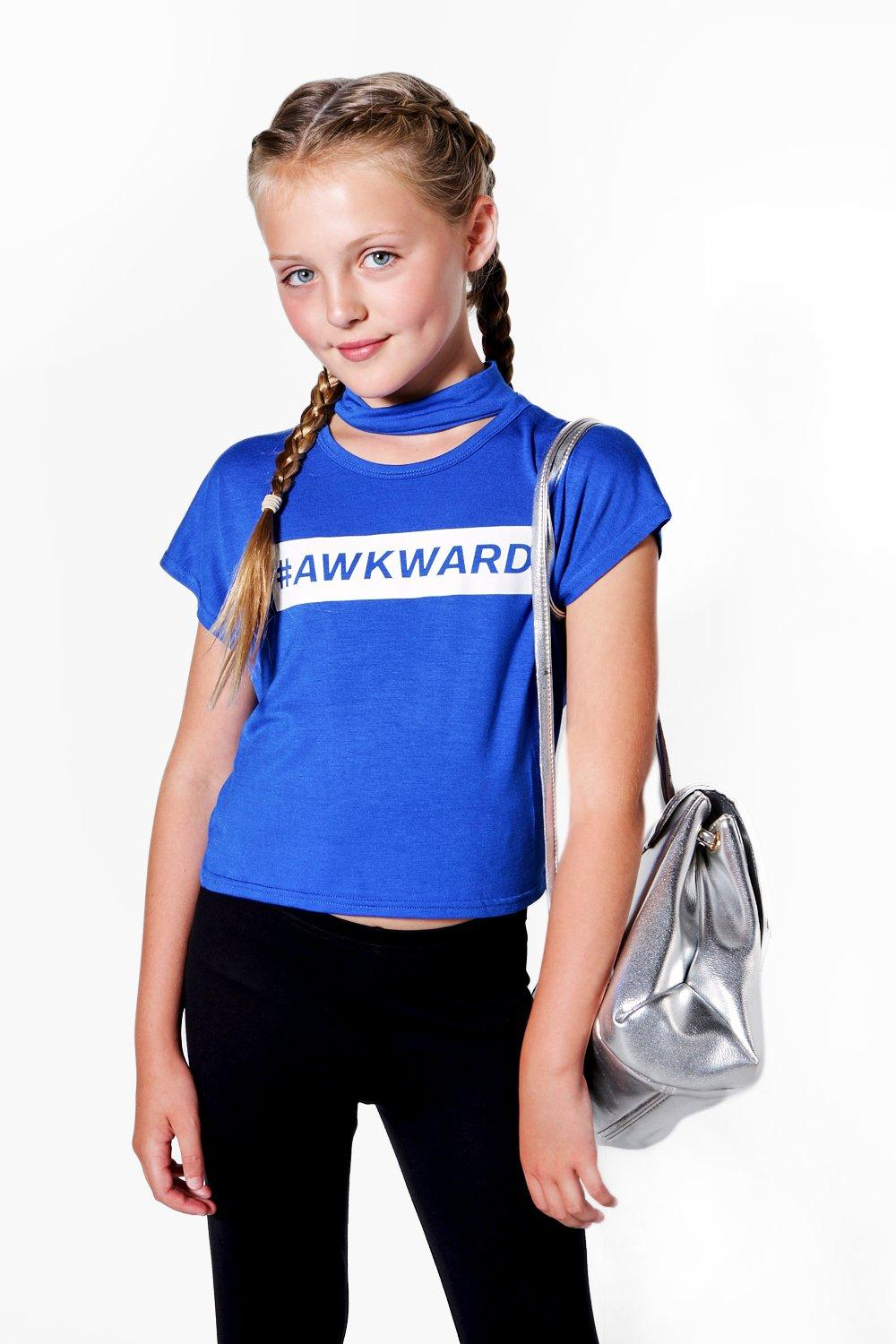 # Awkward Crochet Cropped Tee - cobalt Review thumbnail