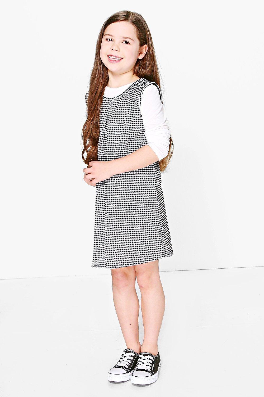 2 in 1 Long Sleeve Gingham Swing Dress - multi Review thumbnail